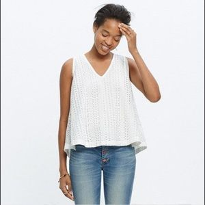 Madewell Eyelet open back top